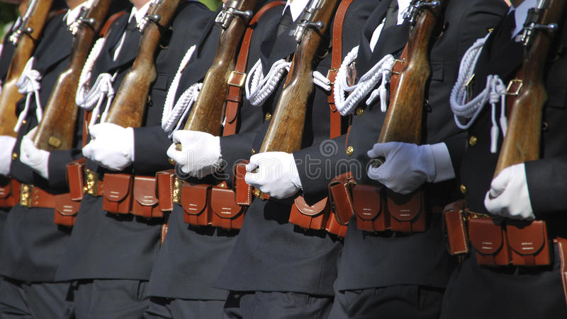 Spanish Navy Soldiers royalty free stock photo