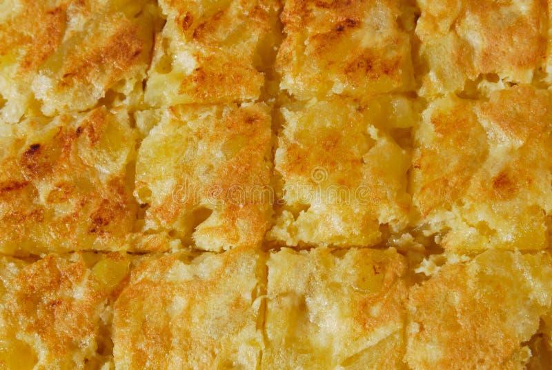 Spanish omelet stock image