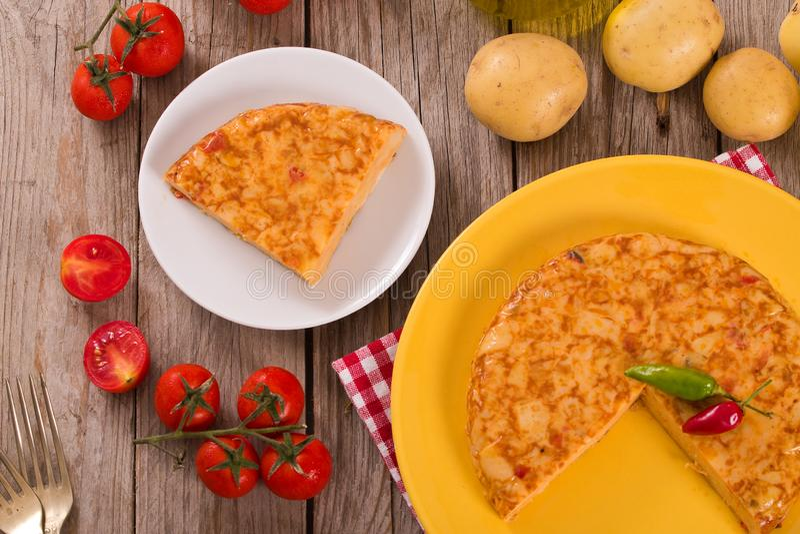 Spanish omelette. stock image