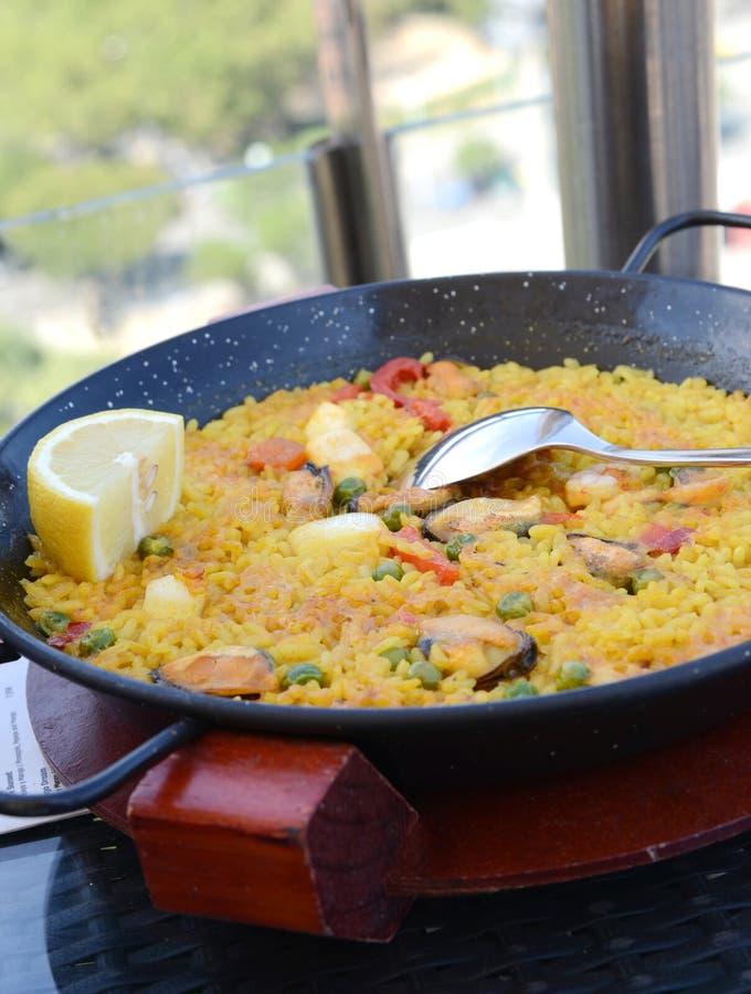 Download Spanish paella stock image. Image of prawn, green, bean - 26106863
