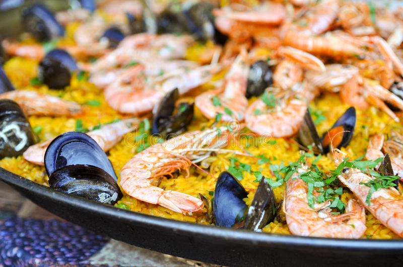 Spanish Paella Close Up royalty free stock images