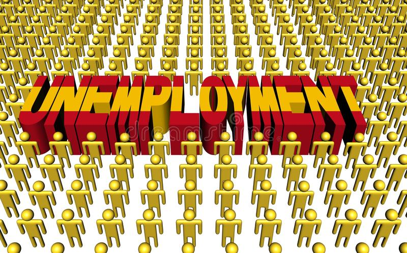 Download Spanish People With Unemployment Text Stock Illustration - Illustration: 22305284