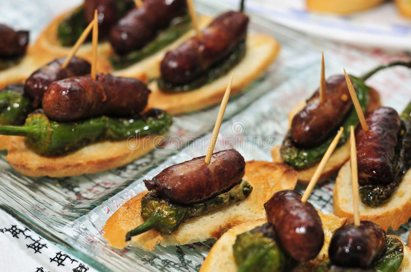 Download Spanish pinchos stock photo. Image of appetizer, hors - 26396444