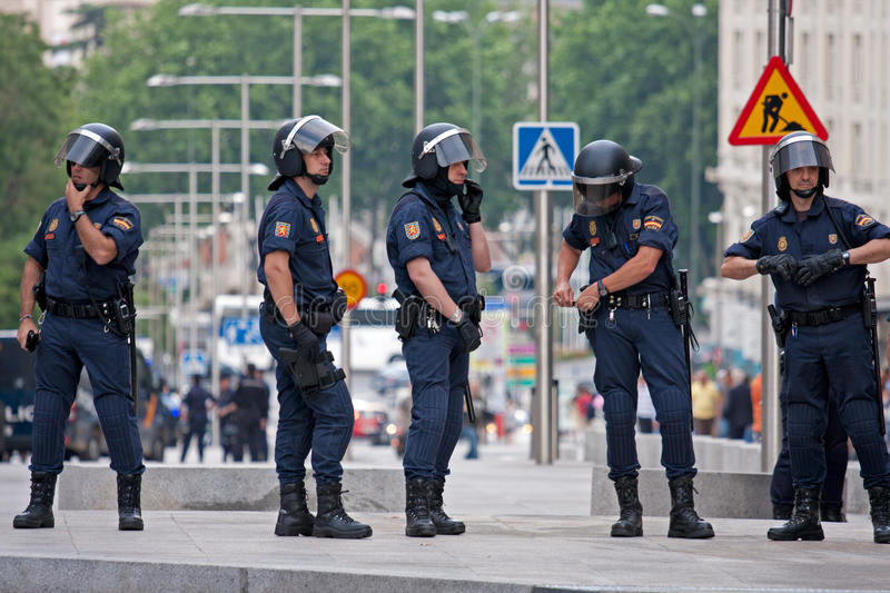 Download Spanish Police In Madrid During The Protests Editorial Stock Photo - Image: 19678083