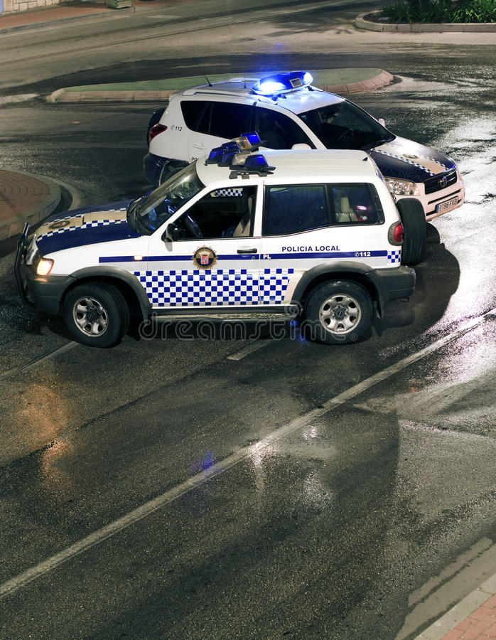 Download Spanish Police Road Block editorial stock image. Image of obstruction - 20779574