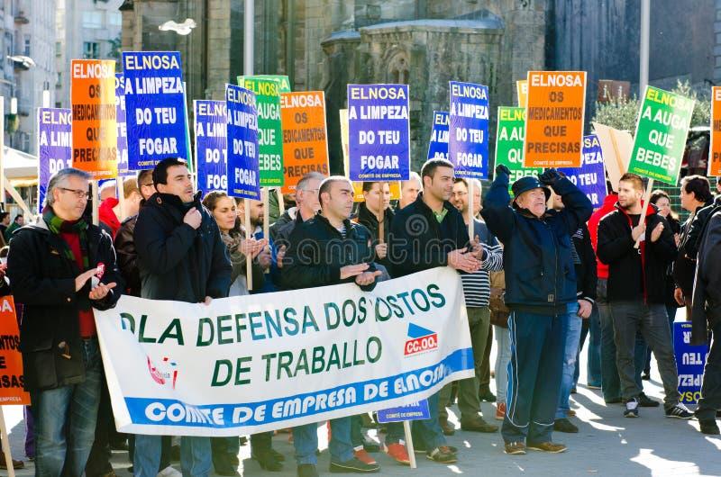Spanish protest royalty free stock photo