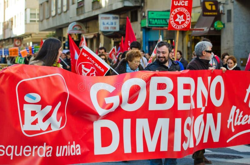 Spanish protest stock photos