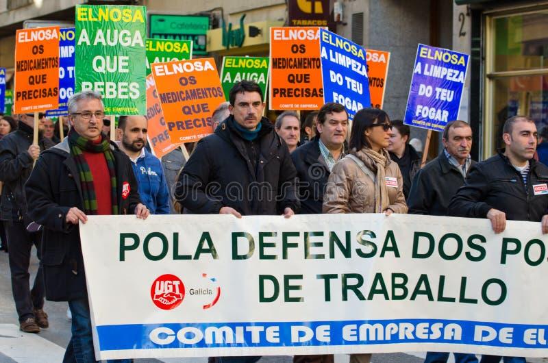 Spanish protest stock photo