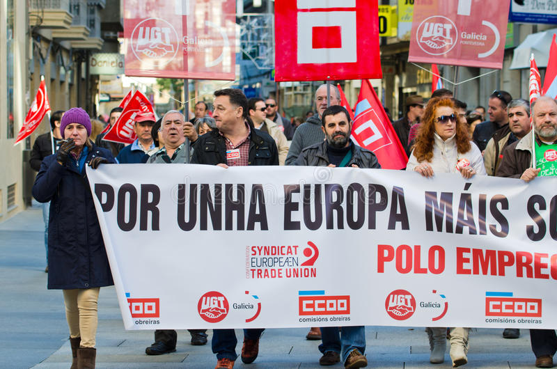 Spanish protest stock photography