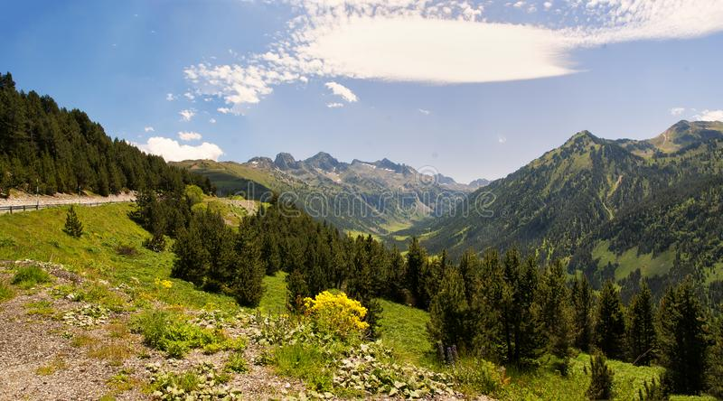 View of spain Pyrenees royalty free stock photos