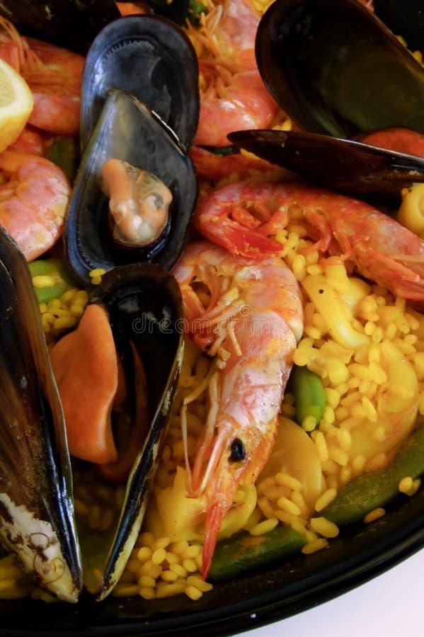Spanish rice: paella royalty free stock photo
