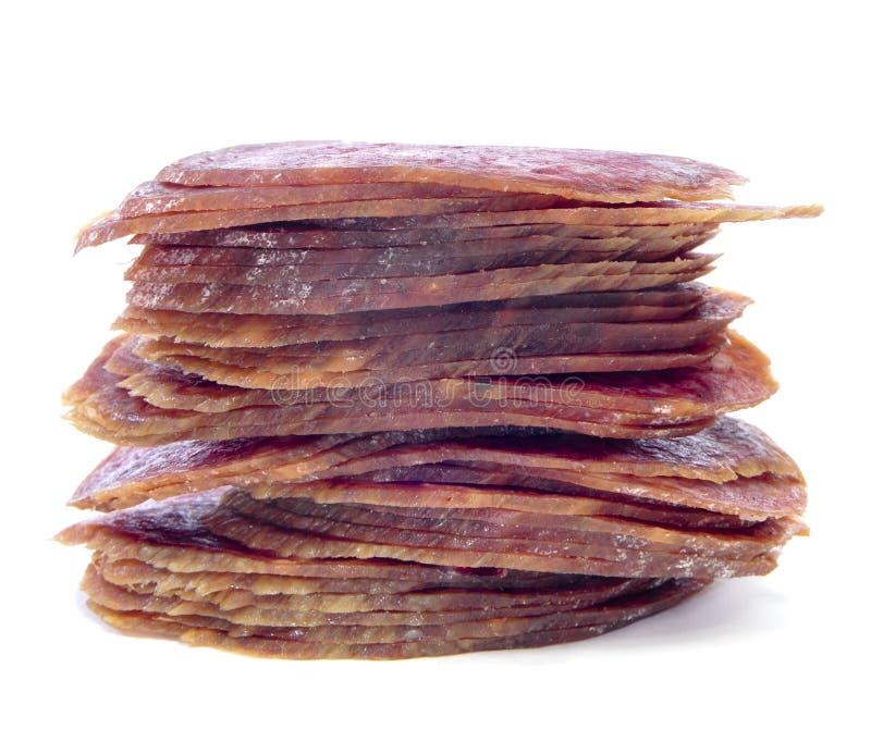 Spanish salchichon royalty free stock images