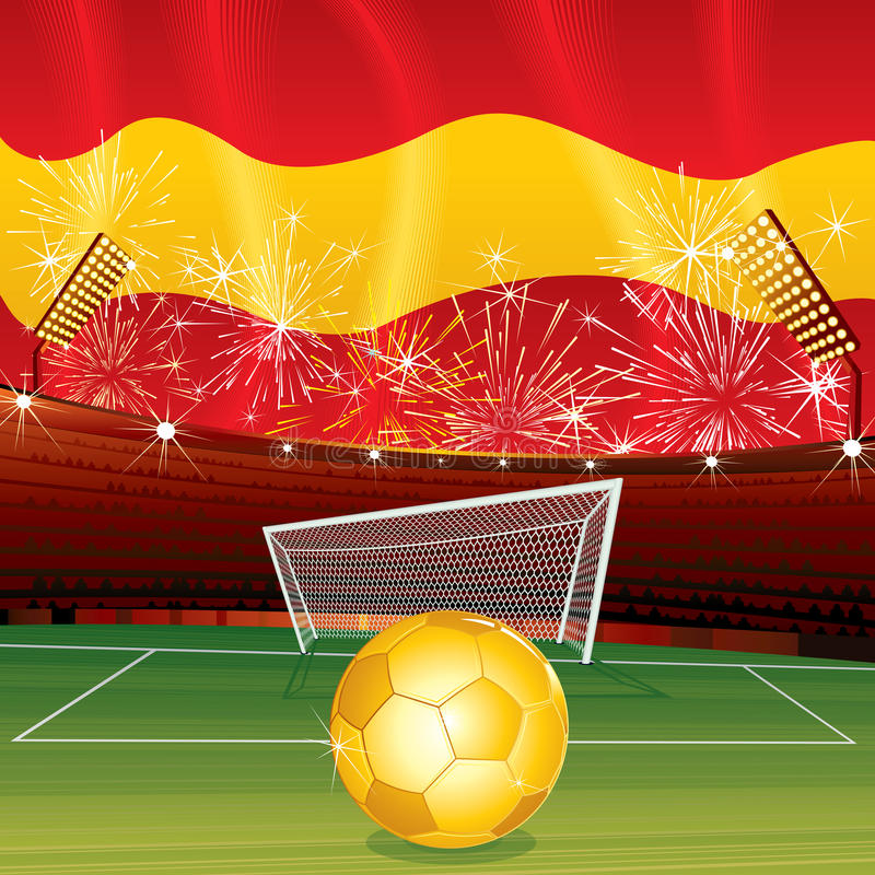 Spanish soccer royalty free stock photography
