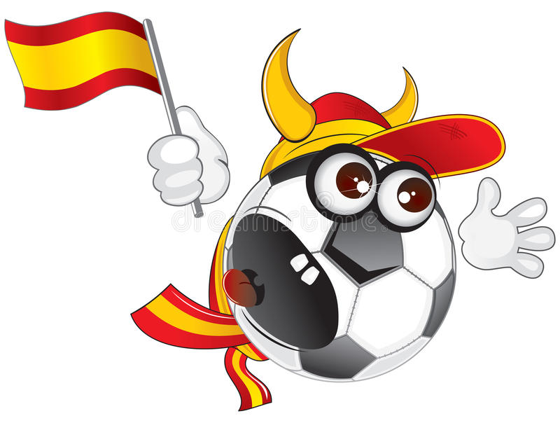 Download Spanish soccer ball stock vector. Image of horned, footballer - 14524368