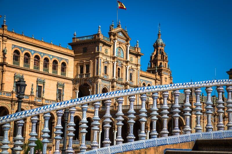 Spanish Square (Plaza de Espana) in Sevilla, Spain. Europe stock photography
