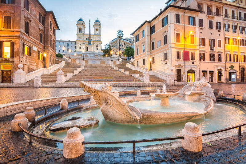 Spanish staircase at rome, italy royalty free stock images