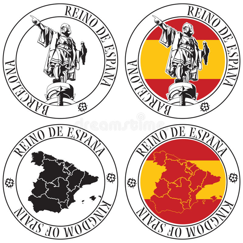 Download Spanish Stamp stock vector. Image of europa, barcelona - 28563215