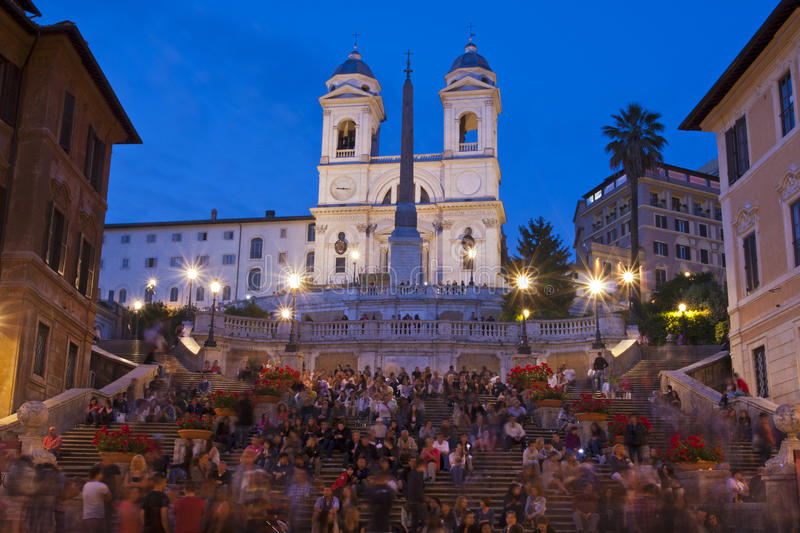 Download The Spanish Steps editorial stock photo. Image of people - 25933123