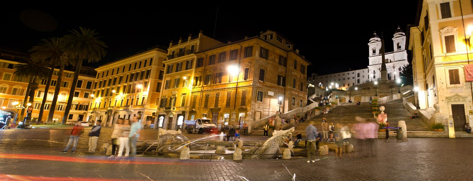 Download Spanish Stairs at night editorial stock photo. Image of church - 27179618