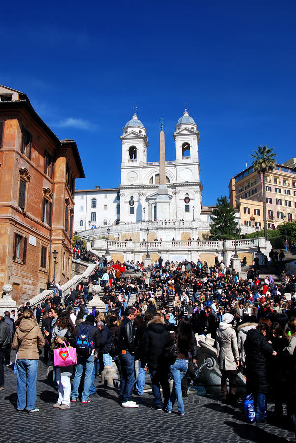 Spanish Steps in Piazza di Spagna in Rome, Italy stock photos