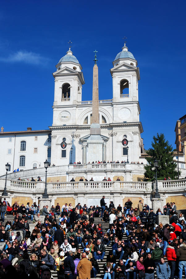 Spanish Steps in Piazza di Spagna in Rome, Italy royalty free stock photo