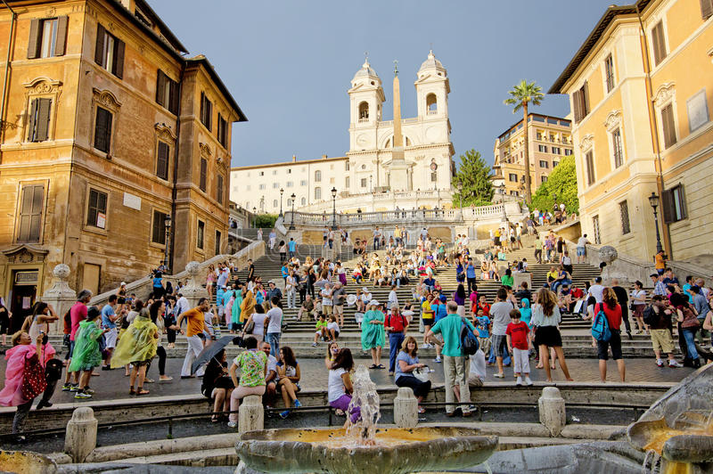 The Spanish Steps, Rome, Italy. royalty free stock image