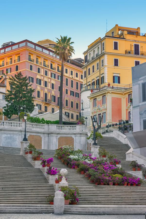 The Spanish Steps in Rome, Italy. stock photography