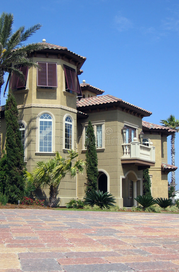 Spanish Style Home stock image
