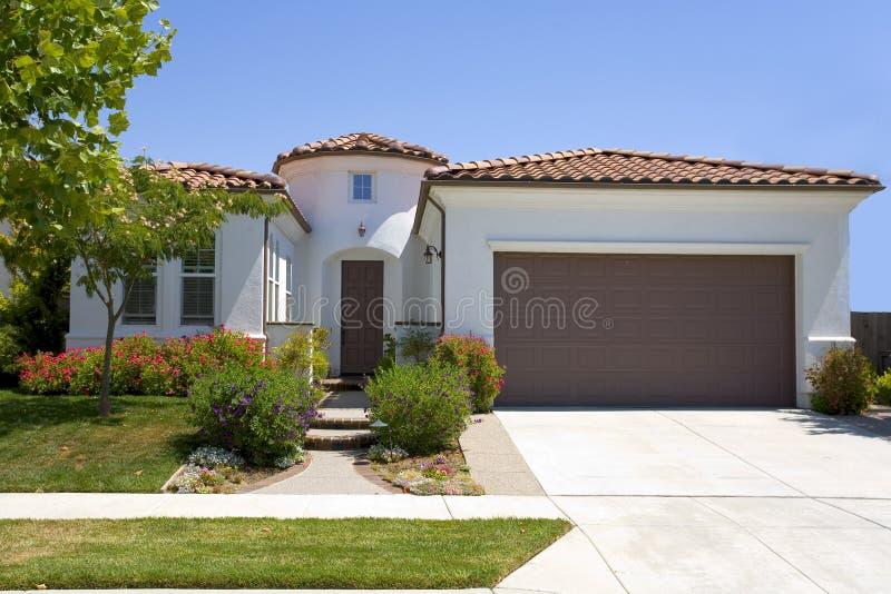 Spanish Style Stucco Home stock image