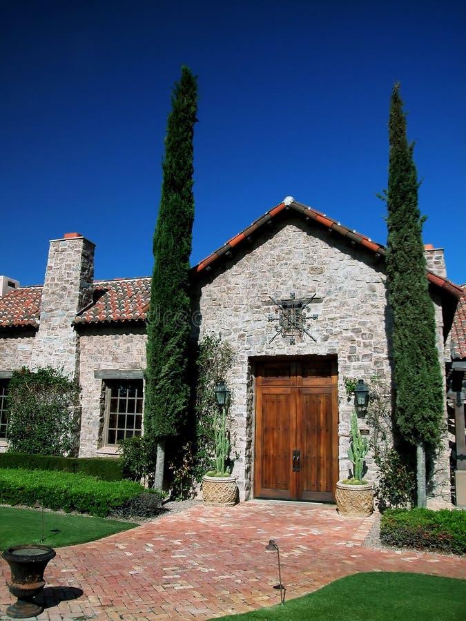 Spanish Styled Villa Entrance stock photography