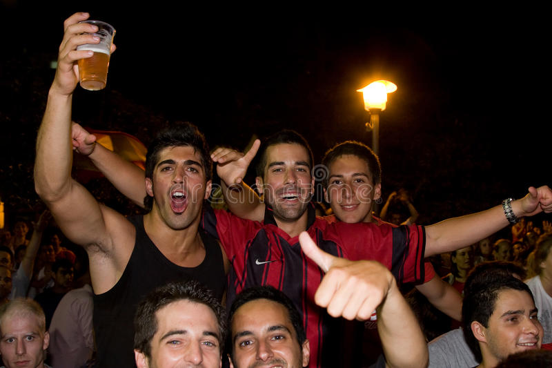 Spanish supporters stock photography