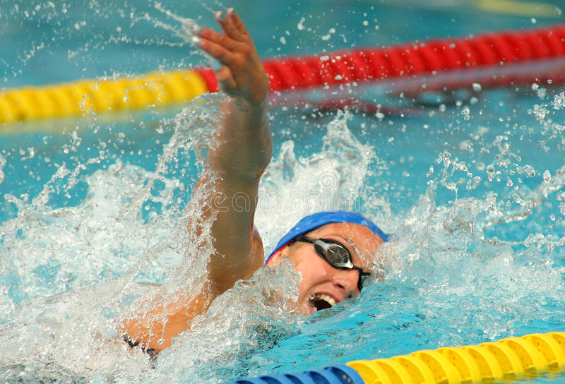 Spanish swimmer Mireia Belmonte stock photography