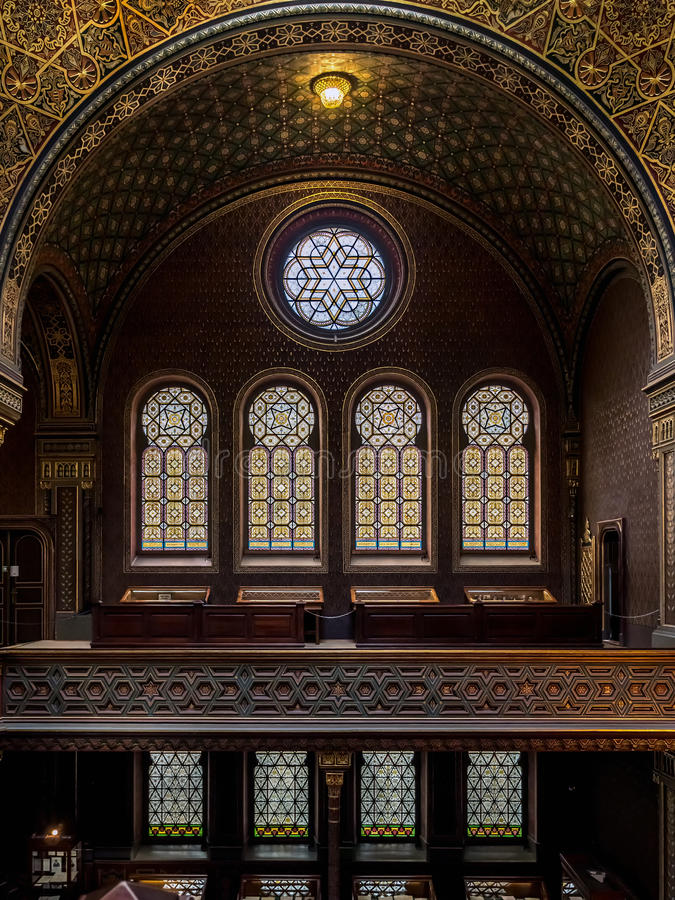 Spanish Synagogue in Prague stock photography
