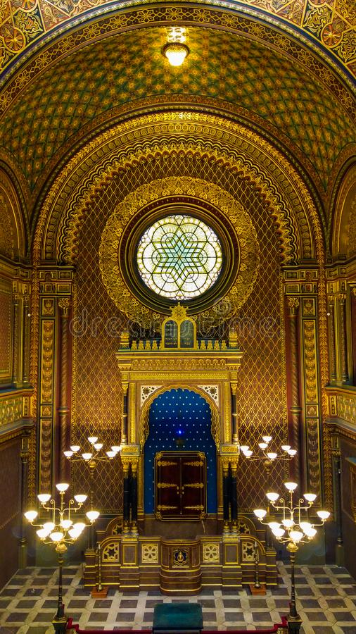 Spanish Synagogue in Prague is one of the most beautiful synagogues in Europe royalty free stock photos