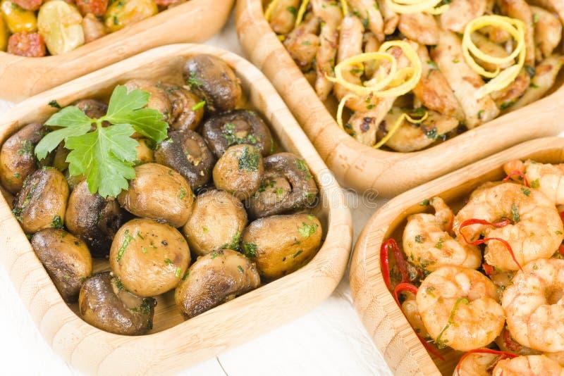Download Spanish Tapas stock image. Image of beans, bamboo, chorizo - 37743703