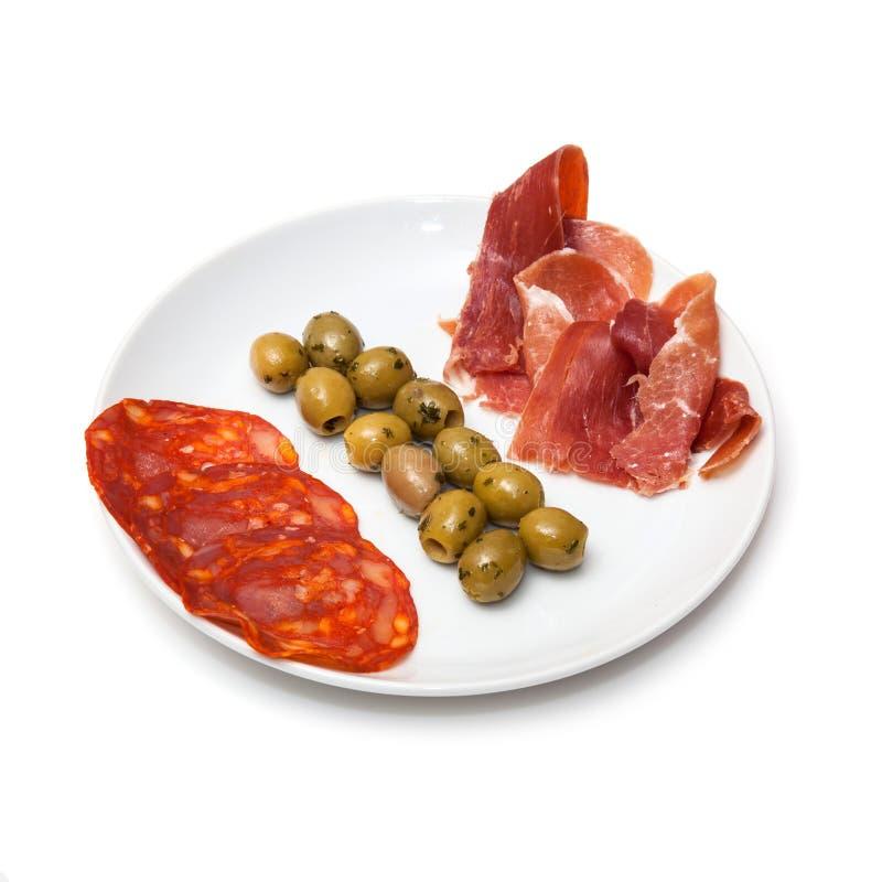 Spanish tapas platter stock photos