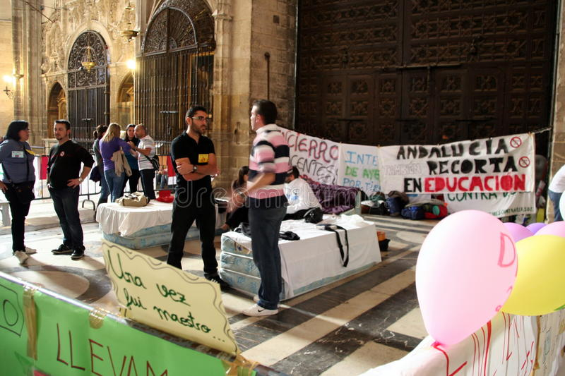 Download Spanish Teachers Strike In Seville Cathedral Editorial Image - Image: 22640155