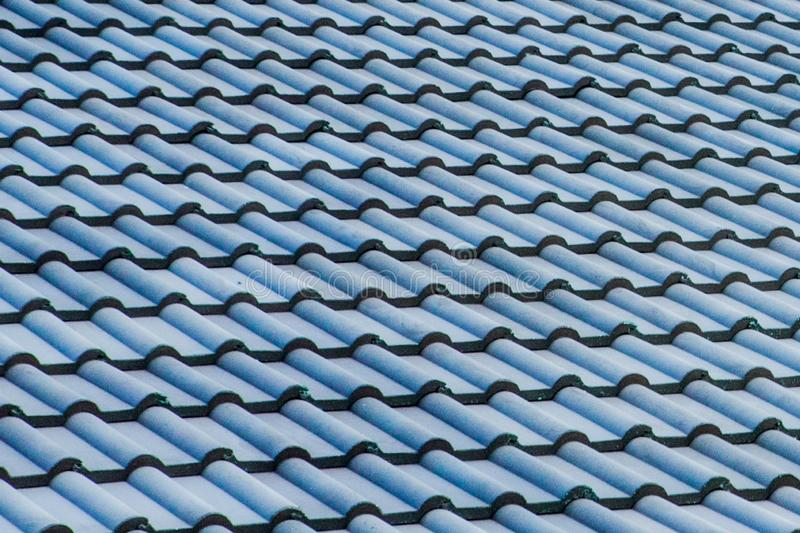 Spanish tile roof. Abstract background texture Mediterranean architectural details.  stock photo