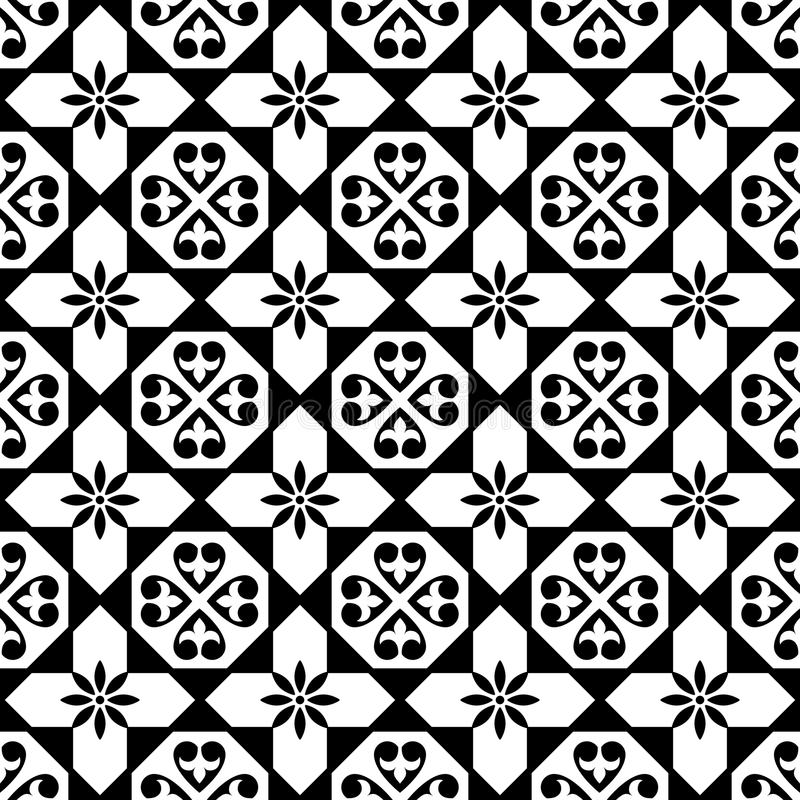 Spanish Tiles Pattern, Moroccan And Portuguese Tile Seamless Design ...