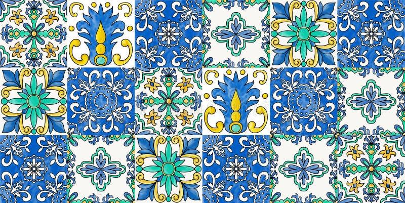 Spanish tiles stock illustration