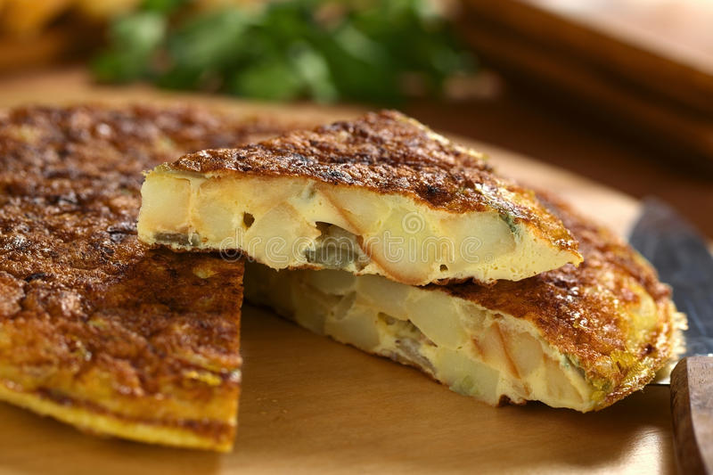 Download Spanish Tortilla Omelette stock image. Image of tapas - 25088309