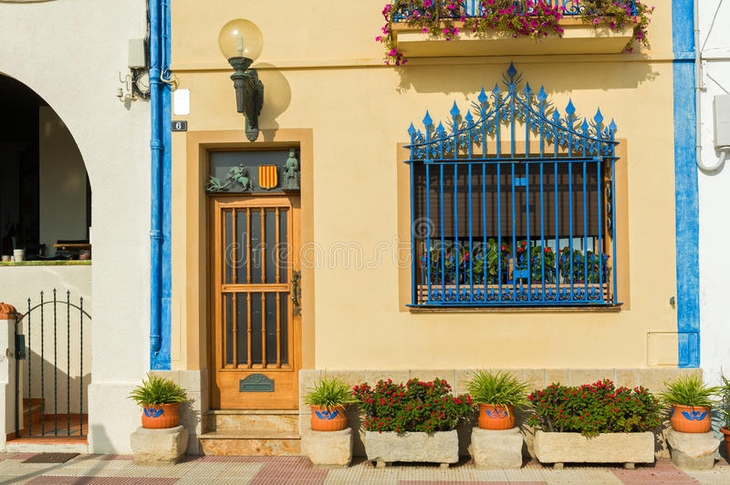 Spanish town house stock photography
