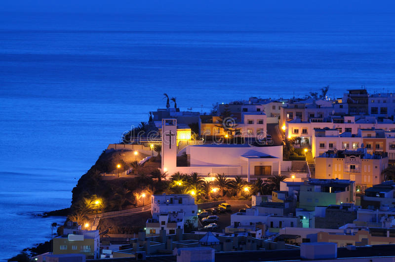 Download Spanish town at night stock image. Image of town, spanish - 14737701