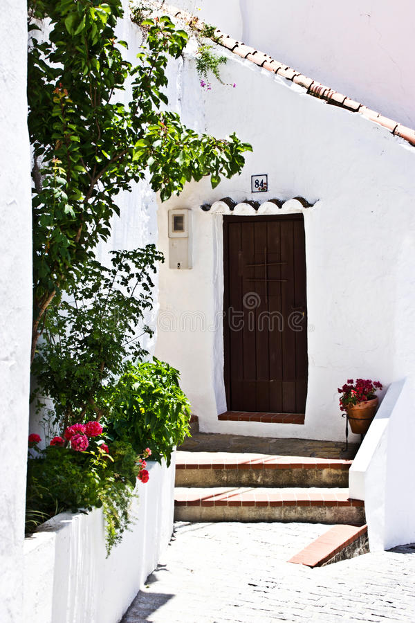Download Spanish typical village stock photo. Image of background - 32439290