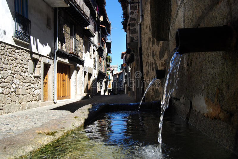 Download Spanish vilage fountain stock image. Image of black, village - 15956227