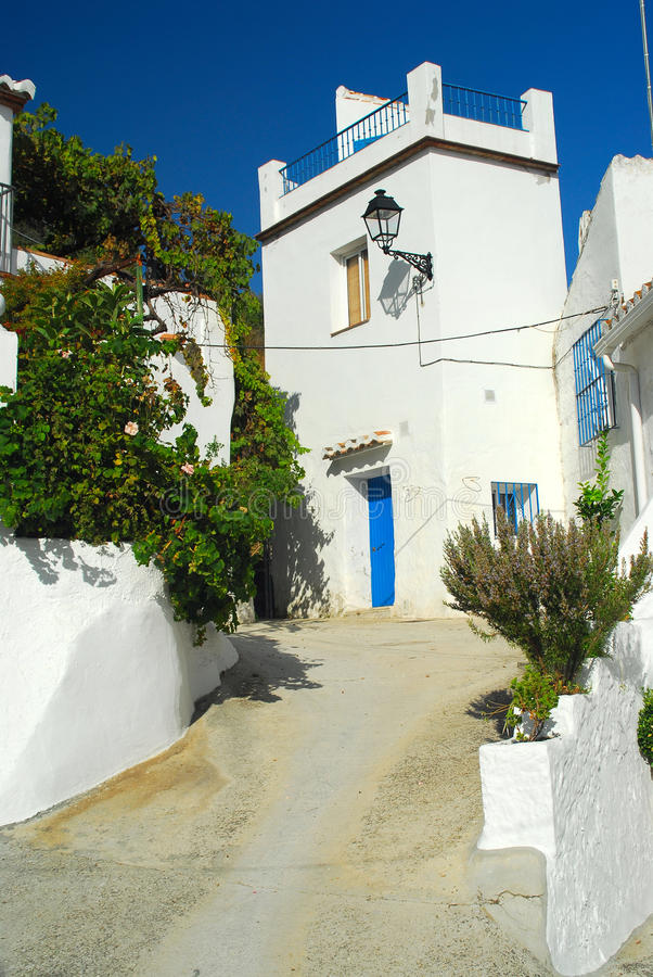 Spanish Village At Midday Stock Photo