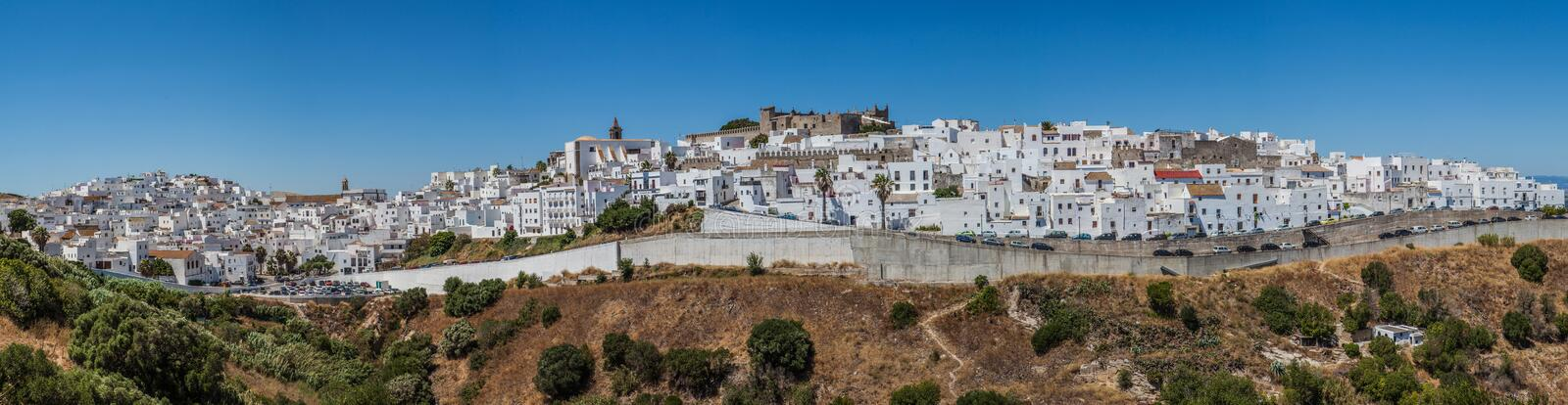 Spanish white village on south andalucia royalty free stock photos