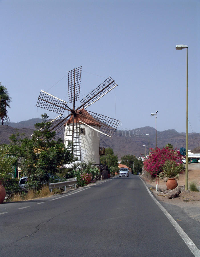 Free Spanish Windmill (Gran Canaria, Canary Islands) Stock Images - 13365284