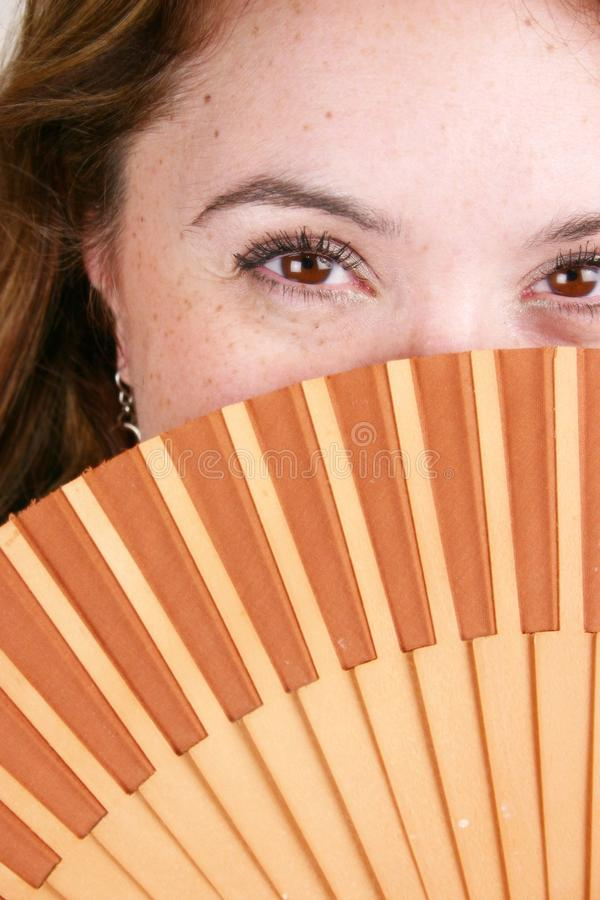 Spanish Woman With Fan stock photography