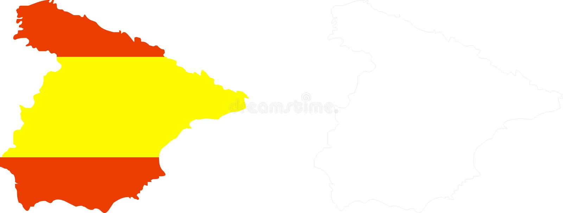 Spanje stock illustratie